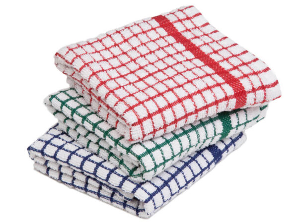 luxury check tea towel