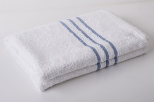 blue header towels