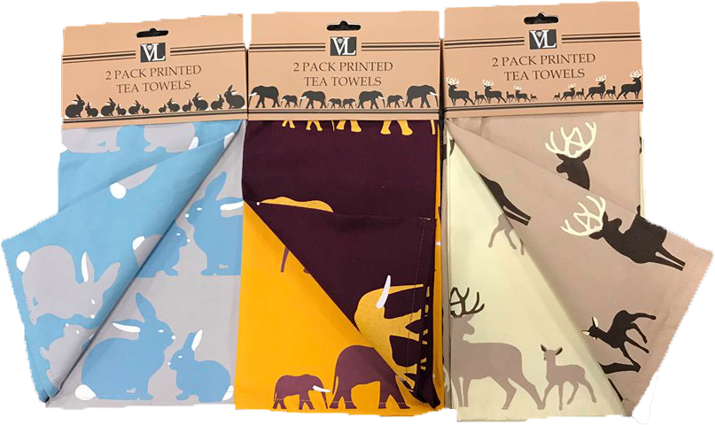Animal Printed Tea Towel