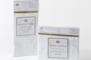 Opulence bedding fitted sheet and pillowcase pair